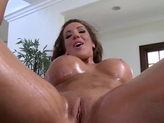 Richelle Ryan has Danny Mountain's penis down deep in her throat