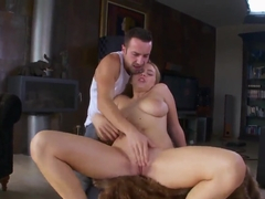 Big tittied Marina Visconti relaxing with man