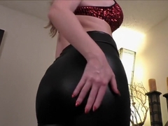 Angela Sommers doing a dildo lapdance