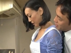 Horny Housewife Ayumi Takanashi Fucked Hard After Dinner