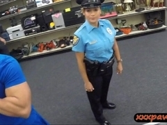 Big tits Latina police officer pawned her pussy to earn cash