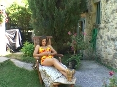 French Milf Fucked and Fisted in her garden