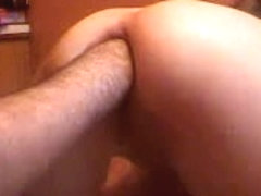 Dirty wife has her bum-hole fisted deep on webcam