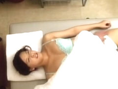 Perfect Jap babe banged hard in voyeur massage video