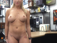 Sexy and blonde stripper wants to upgrade her pole gets Shawns pole
