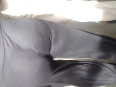 Sexy Milf ass in black tights