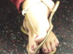 Candid Feet on Train