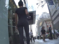 Stalking an ebony girl in tights