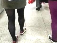Streetlegs - German teen with sexy muscle calves!