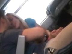 Horny couple on train