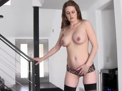 Hottest pornstar Peyton Leigh in fabulous big tits, stockings adult video