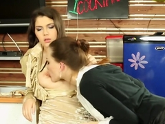 Fabulous pornstars Hanna Sweet, Angie Koks and Aurelly Rebel in exotic blowjob, anal xxx video