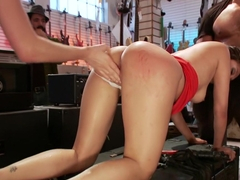 PERFECT TOY! Ass Fucking, Anal Fisting, Bondage, Squirting in Public!!