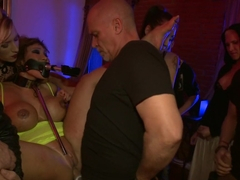 HUGE TITTED Ava Devine does DOUBLE ANAL in a bar full of STRANGERS!!