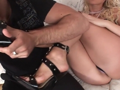 Hottest pornstar Cindy Dollar in horny anal, foot fetish porn scene