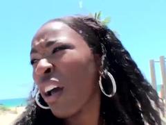 Hot ebony bitch Gemini enjoys working out with mighty Jmac