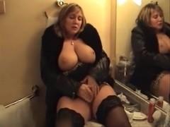 Large breasted Belgium chick masturbating