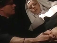 Pervy Italian nuns loving anal and facials