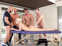 Best pornstar Blanche Bradburry in Crazy Facial, Blonde porn video