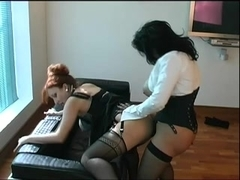 Lascivious Redhead Aged and GF with ramrod