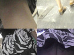 Best upskirt video of a brunette lassie with a g-string