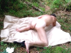 My orgasm in the english forest