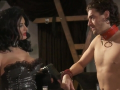 Alektra Blue and her slave have a hardcore sex