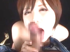 Amazing Japanese whore Yuria Satomi in Horny Blowjob/Fera JAV scene