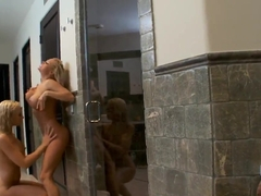 Visit to the sauna gets Billy Glide a hot and erotic group fuck