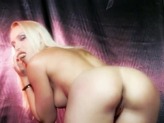 Crazy hot blonde girl Kathia Nobili plays wild with her favorite dildos