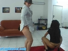 Double-lapdance by chunky mother i'd like to fuck and divine honey