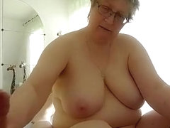 My nerdy bbw wife gives me a morning handjob
