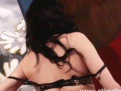 Aiden Ashley fucks herself with a toy
