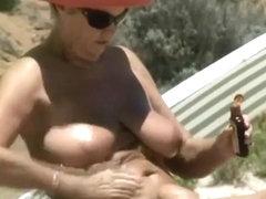 Busty nudist granny