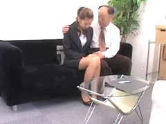 Nice Jap slut gets a big load in spy cam Asian sex video