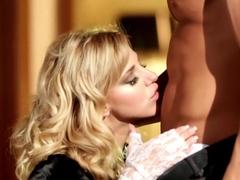 Fabulous pornstar Nathaly Cherie in horny piercing, blonde sex scene