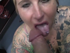 Crazy pornstar Black Widow in horny piercing, tattoos sex scene