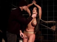 Horny pornstar Amanda Bleack in crazy dildos/toys, creampie sex scene