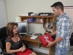 Kris finds his friend's mom at home