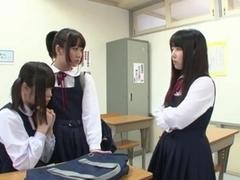 Lesbian Schoolgirl Battle (1 of 3 censored)