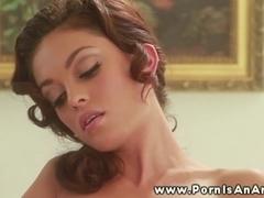 Adorable woman stimulating herself