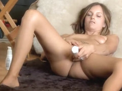 Hidden cam caught her with a vibrator
