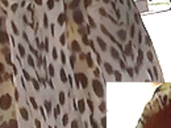 Peek up leopard petticoat