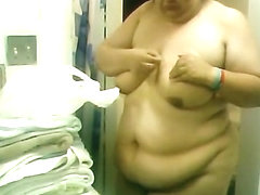 BBW Wife getting in shower