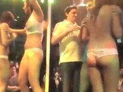 Secretly filming a hot striptease show