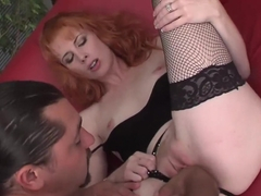 Incredible pornstar in crazy redhead, lingerie sex video