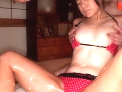 Exotic Japanese girl in Incredible JAV censored Small Tits, Threesomes clip