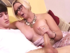 Archie Gets Milked By Step Mom Brianna - Over40Handjobs