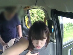 Pretty Babe Giving Blowjob In Fake Taxi