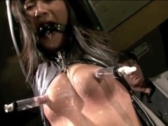 Her Big Nipples Get Pulled, Pumped And Pegged!!!!!!!